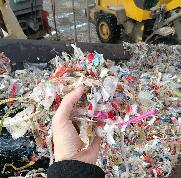 纸厂绞绳垃圾一次破碎后