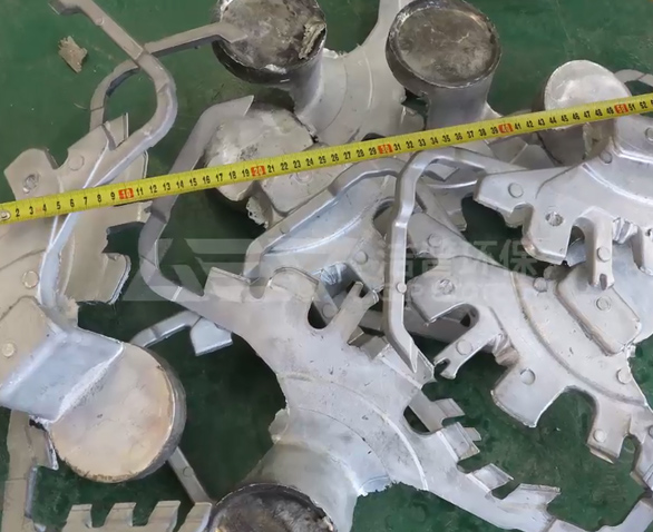 废铝合金铸件破碎机试机视频